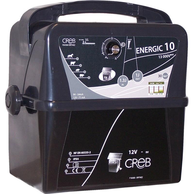Φορητός Μηχανισμός Ηλεκτρικής Περίφραξης ENERGIC 10